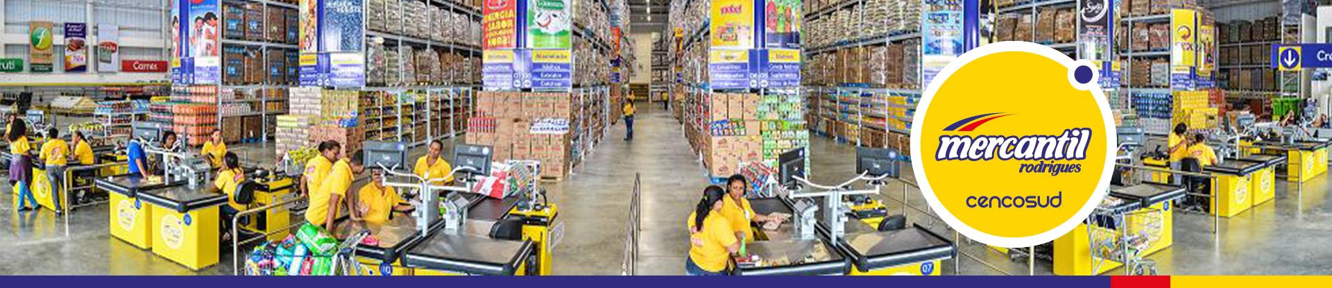 Supermercado Mercantil Rodrigues recebe currículos em vagas de emprego para Operador de Caixa, Zelador, Fiscal e Empacotador